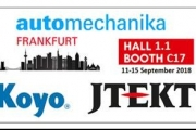 Koyo is joining AUTOMECHANIKA 2018 in Frankfurt